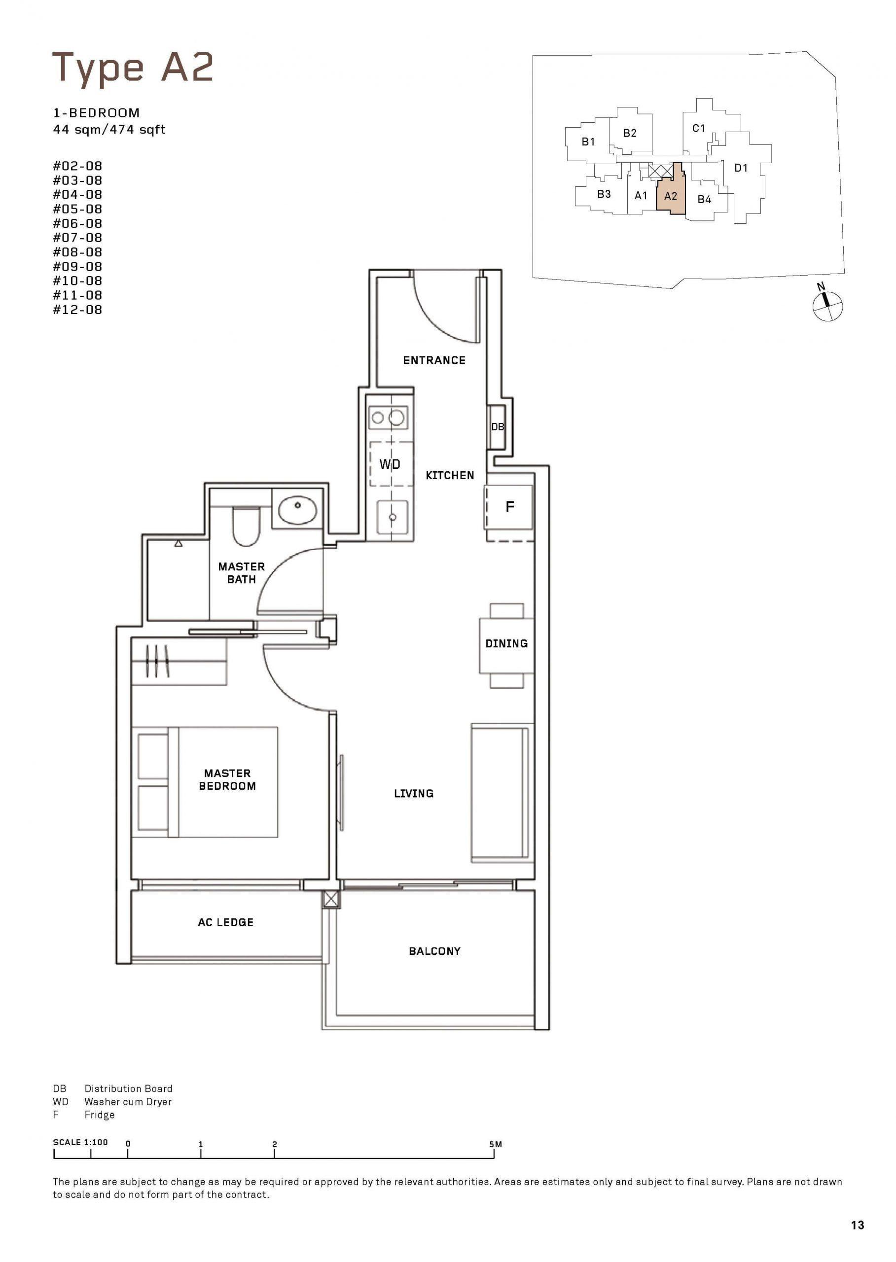 MYRA Condo Floor Plan 1 Bedroom 2 scaled