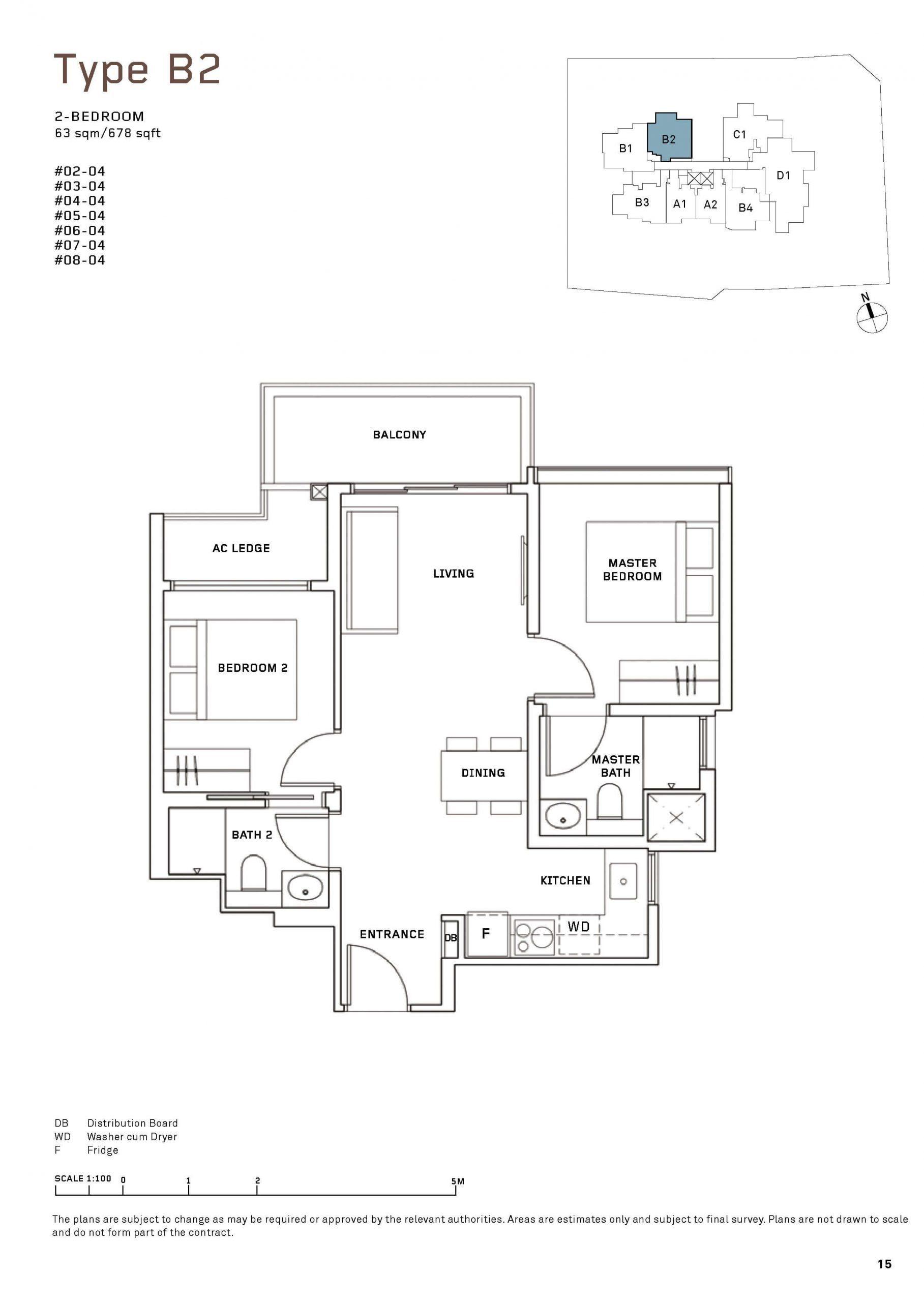 MYRA Condo Floor Plan 2 Bedroom 2 scaled