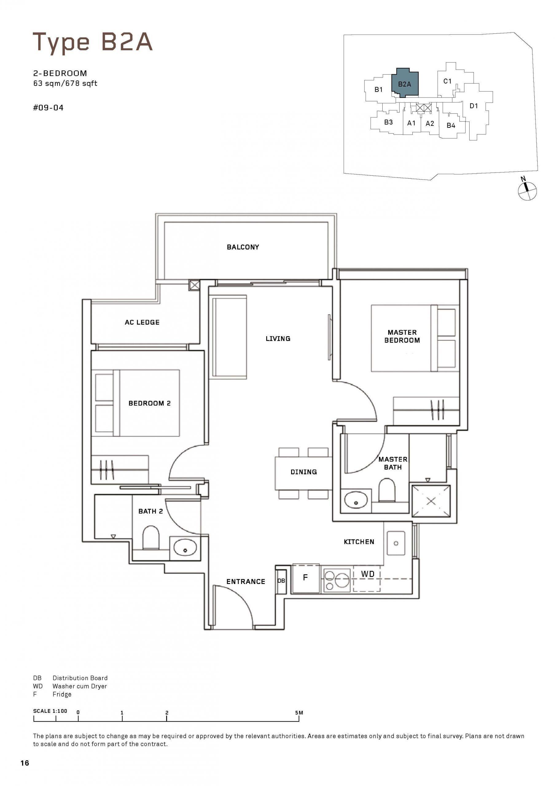 MYRA Condo Floor Plan 2 Bedroom 3 scaled