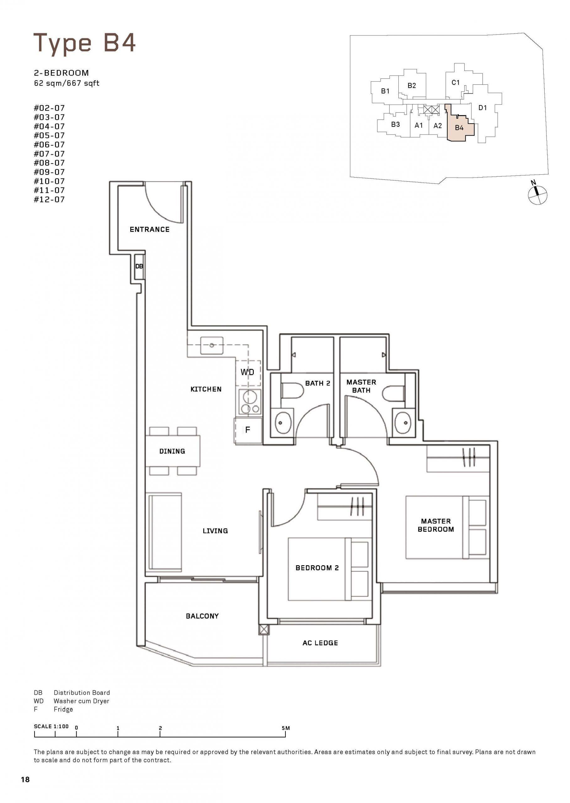 MYRA Condo Floor Plan 2 Bedroom 5 scaled