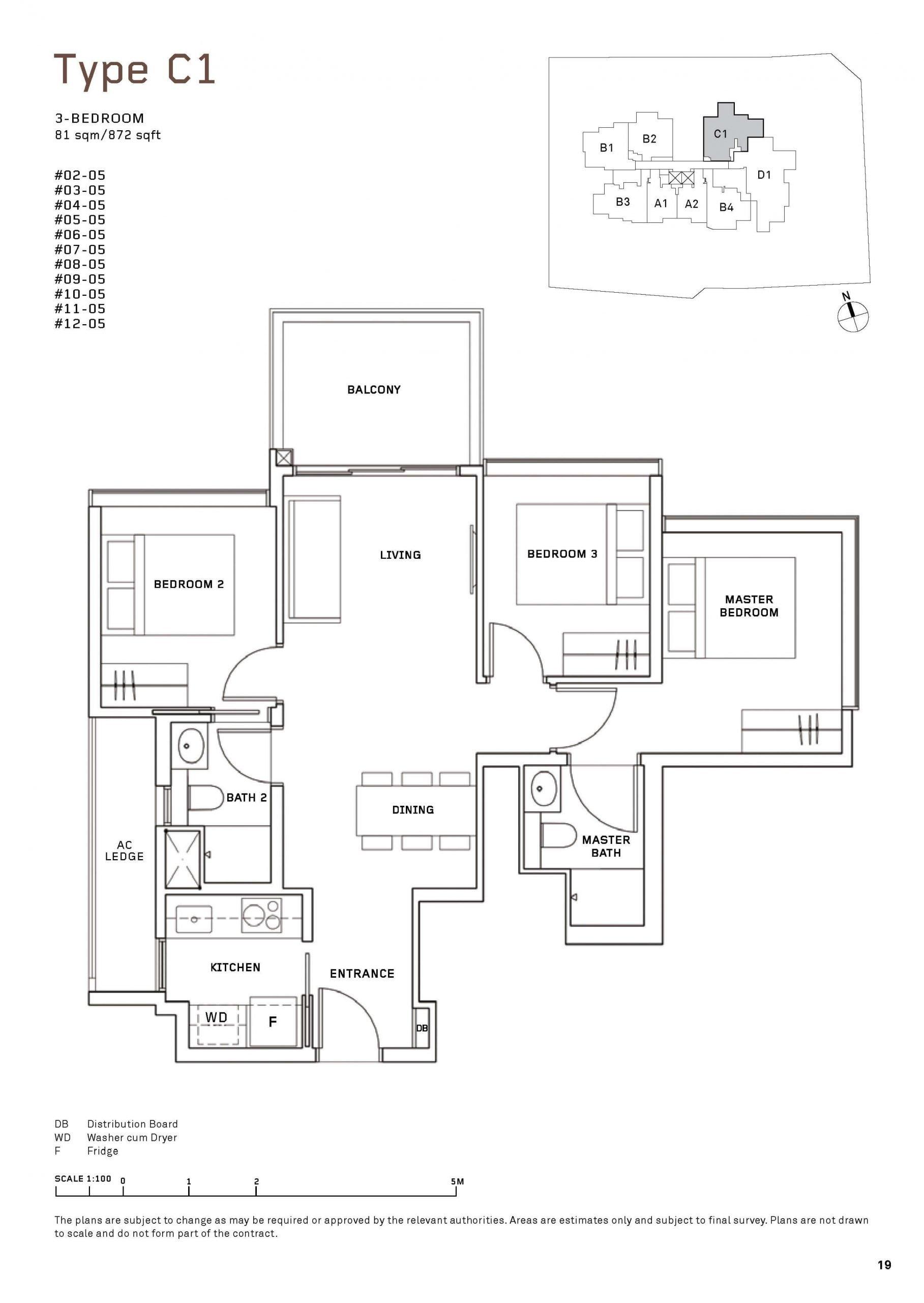 MYRA Condo Floor Plan 3 Bedroom scaled