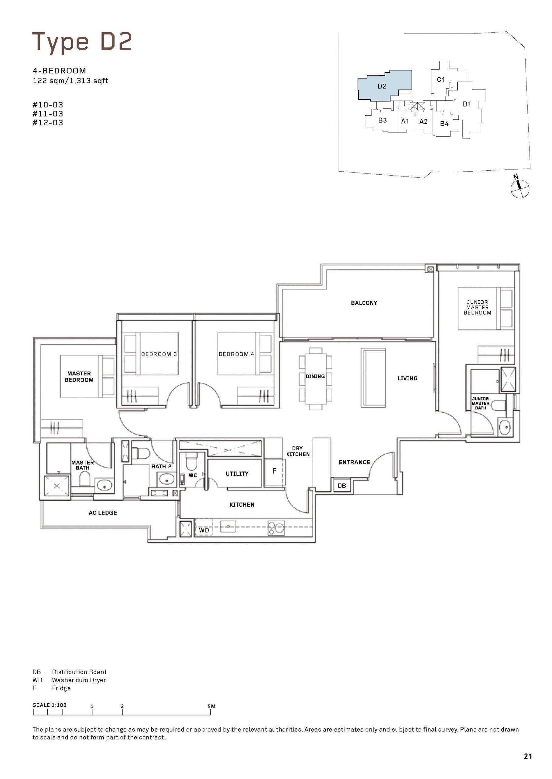 MYRA Condo Floor Plan 4 Bedroom 2 scaled