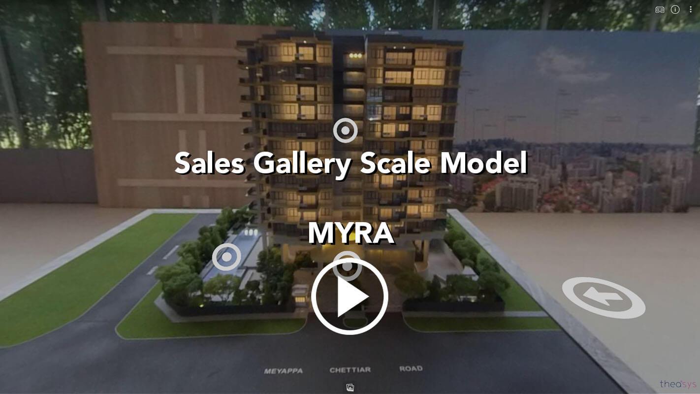 MYRA Potong Pasir Meyappa Chettiar Virtual Tour Sales Gallery Scale Model