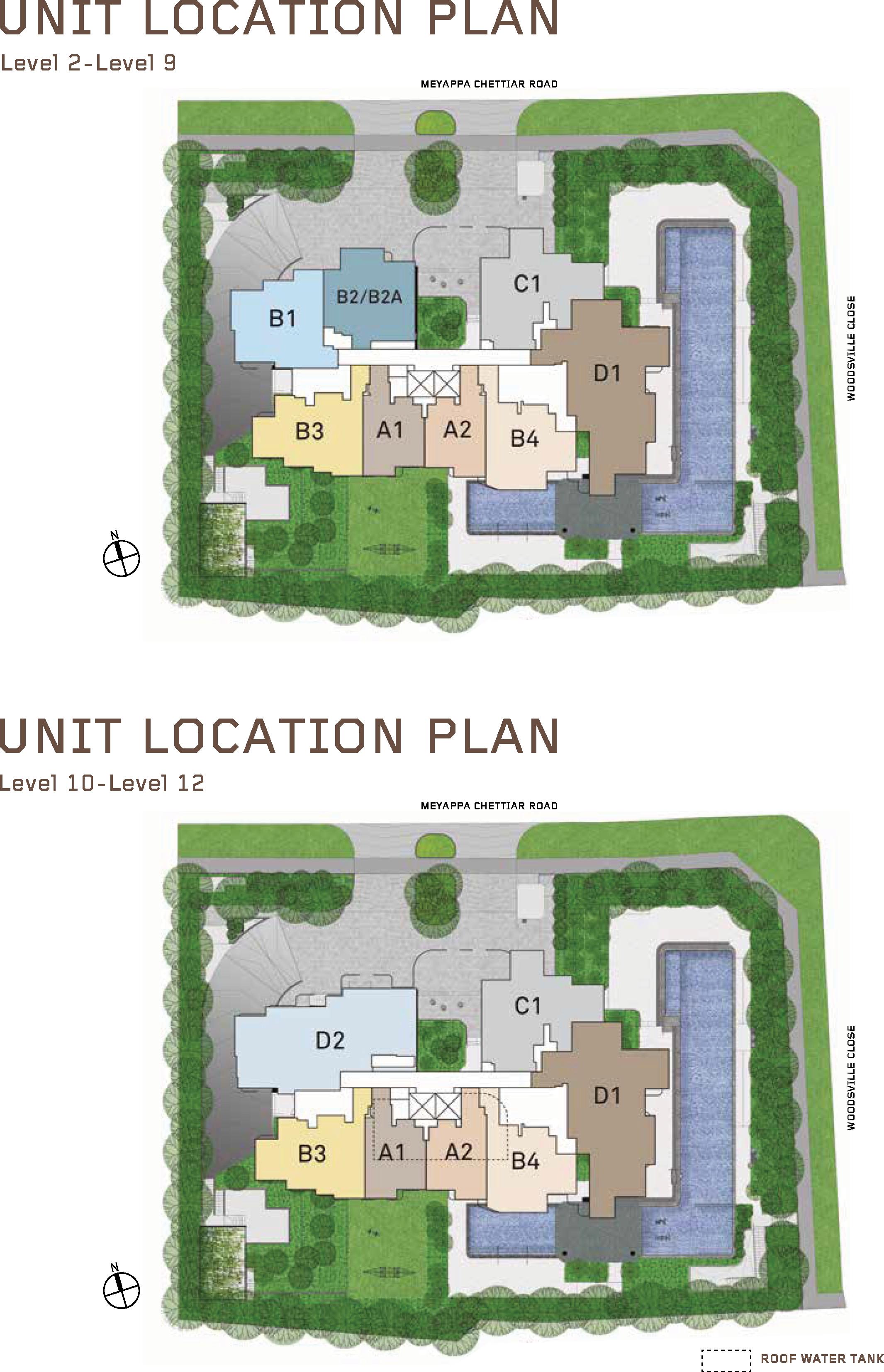 MYRA Site Plan Unit Location Plan