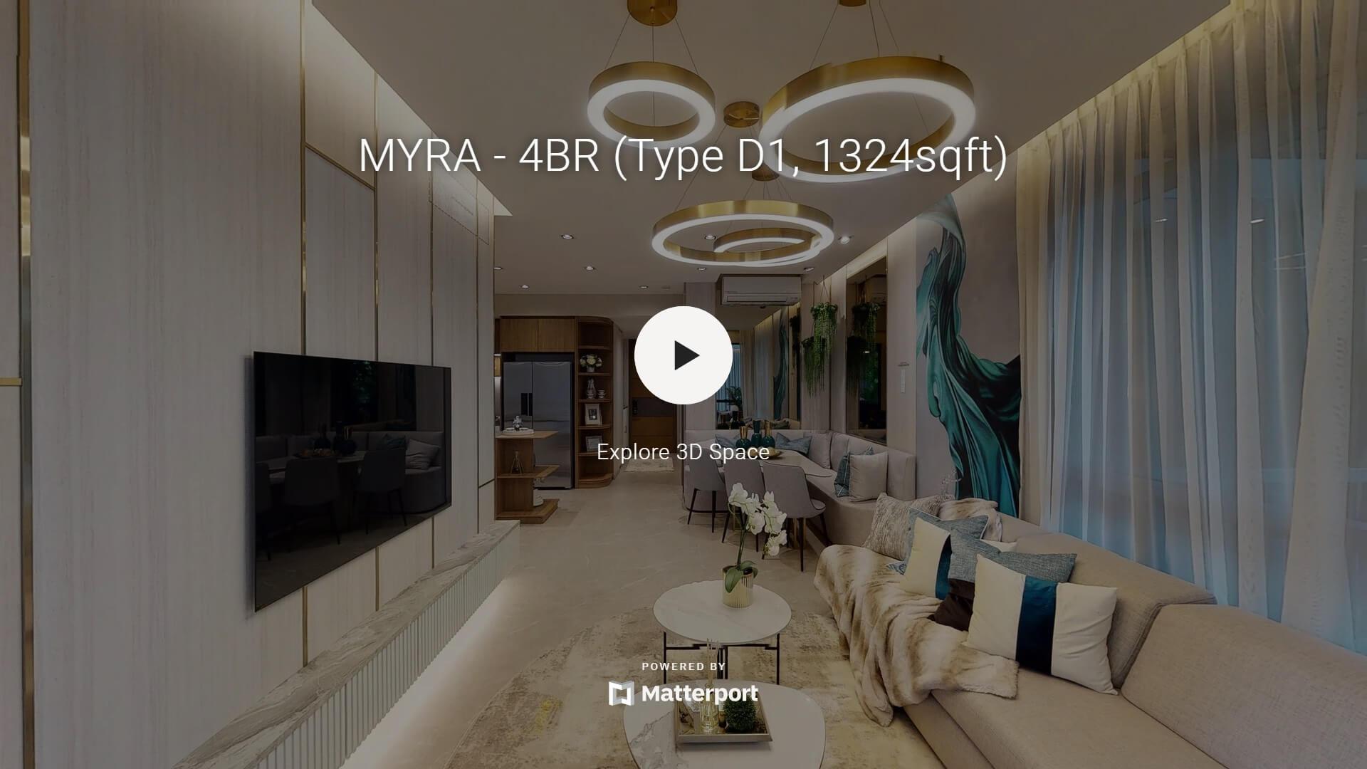 MYRA Showflat 4 bedroom virtual tour 1